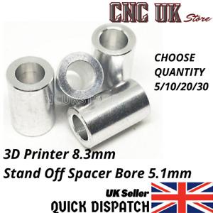 3D printer 8.3mm Stand Off SPACER - 5mm Screw V Wheel Aluminium Extrusion
