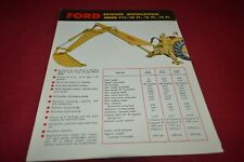 Ford Tractor 713 Backhoe Dealer's Brochure AMIL15