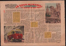 Tour de France Velo Palais des papes d'Avignon Camionnette Pub 1953 ILLUSTRATION