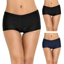 Women Boyleg Tankini Shorts Bottoms Boardshorts Solid Bikini Swimsuit Swimwear