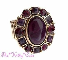 Statement Oval Amethyst Costume Rings