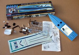 MONOGRAM 3104 MIAMI VICE SCARAB OFFSHORE MODEL BOAT KIT PARTIALLY ASSEMBLED