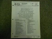 1987 VW FOX Fox Wagon Main Wiring Diagram Service Repair Shop Manual OEM BOOK 88