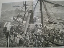 Rescue of the Survivors of the SS Deutschland off Harwich by tug Liverpool 1875