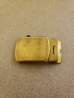 VTG MILITARY SOLID BRASS BUCKLE **RARE DENMARK MIL. N.Y. STAMP?** FOR WEB BELT