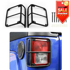 Tail Light Guards Cover Rear Lamps Trim Cover For 2007 2018 Jeep Wrangler Jk Fits Jeep