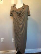 NWT Antonio Marras Cement Gray Silk Blend Jersey Wrap Dress SZ IT 42 US 8 Damage