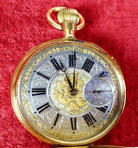 SABONETA POCKET WATCH. SONERY. CH. ED. LARDET. 18K GOLD. SWITZERLAND CIRCA 1850