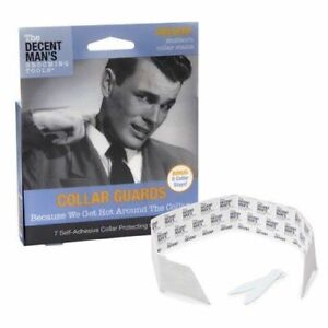 The Decent Man's Grooming Tools Men's The Collar Guards with Bonus Collar Stays