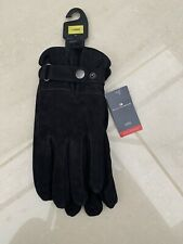 BNWT Marks And Spencer Mens Black Soft Leather Gloves L