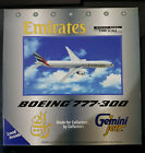 Gemini Jets Emirates Boeing 777-300ER A6-EMM 1/400 Diecast Collectable Aircraft