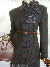 HOURIHAN Blue Vintage Irish DONEGAL TWEED Skirt-Suit L / UK 14 / EU 40 / US 8