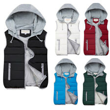 Mens Down Vest Winter Body Warmer Waistcoat Sleeveless Hooded Quilted Gilet