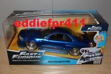 1/24 JADA FAST & FURIOUS NISSAN SKYLINE GTR R34 BLUE BRIAN OCONNOR PAUL WALKER