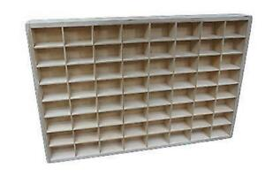 NEW X-Large Display Tray 64 Compartments Shelf Toy Storage Tray Unit Miniatures