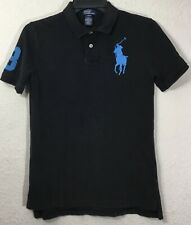 Polo Ralph Lauren Boys' Short Sleeves Black Polo Shirt Sz L(14-16)