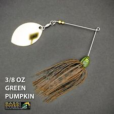 Bassdozer spinnerbaits LONG ARM OKLAHOMA 3/8 oz GREEN PUMPKIN spinner bait lures
