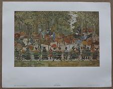Maurice Prendergast Central Park Vintage Origina Lithoraph 1960's