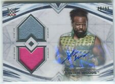 2020 Topps WWE Undisputed Xavier Woods Auto Dual Relic Mat Shirt /99 New Day SP