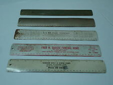 Metal Rulers Cleveland OH lot of 5 Advertising Industry Banking Grocer 1950 1951