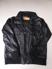 veste simili cuir, noire, taille 12 ans