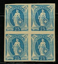 Switzerland #94 Block of 4 Proofs 1891-99 MH