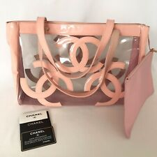 Chanel Clear Pink Logo Handbag