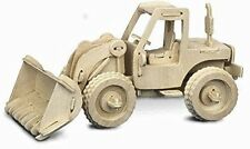 Bulldozer: woodcraft quai construction en bois modèle 3D kit P029 âge 7 plus