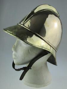 Rare 19th Century German Antique Fireman's Brass Helmet By Magirus Circa 1860