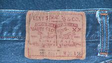 "Levis 501 True Vintage/Not LVC. Sz 34x33. Cone Mills ""Hairy"" Denim. Made in USA."