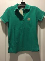 Moncler Green Polo Shirt Size S