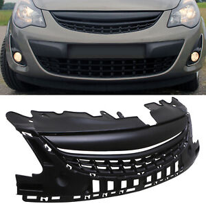 BLACK DEBADGED VXR LOOK GRILL GRILLE FOR VAUXHALL OPEL CORSA D FACELIFT 11-14