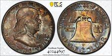 1956 Franklin Half Dollar PCGS MS64 FBL Original DMS Toned Silver Registry Coin
