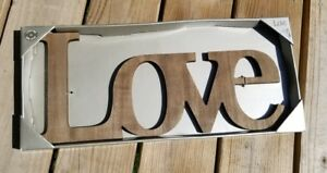 "Stratton Home Decor Wood "" LOVE "" Sign  Handmade 18"" x 8"" NEW Farmhouse"