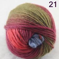 SALE NEW Chunky Colorful Hand Knitting Scores Wool Yarn Army Green Blue Burgundy