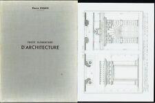 Traité élémentaire d'Architecture, étude des 5 Ordres, Planches de Pierre Esquié