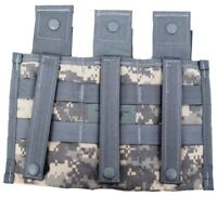 Lot of 5 US Military Molle ACU TRIPLE MAGAZINE POUCH Three Mag Pouch