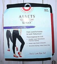 ASSETS RED HOT LABEL BY SPANX BLACK SEAMLESS SHAPING LEGGINGS -SIZE M (6-8)