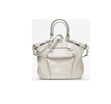 Coach Madison Embossed Mixed Exotic Pocket Lindsey Satchel Crossbody Bag 19635