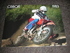 NOS HONDA CR 80 RD 1983 SALES BROCHURE BOOKLET VINTAGE TWINSHOCK ELSINORE CR80R