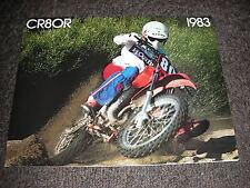 NOS HONDA CR 80 RD 1983 SALES BROCHURE BOOKLET VINTAGE EVO ELSINORE CR80R 83 GC4