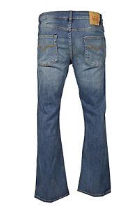 Men's LCJ Denim Bootcut Jeans Stretch Medium Wash LC20 All Sizes