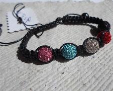 Handcrafted Shamballa Bracelet ~ Multi Colured