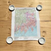 Vtg. Mamaroneck, New York, Westchester County City (Map Aerial Photo Taken 1982)