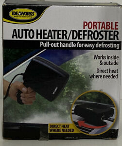 Ideaworks Portable Auto Heater/Defroster New In Box