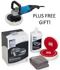 AUTOGLYM DRAPER Machine Rotary Polish RAPID RENOVATOR Kit Set Pad Polisher +GIFT