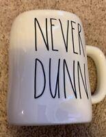 """New RAE DUNN Artisan Collection LL """"NEVER DUNN"""" Mug By Magenta"""