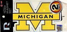 University of Michigan (U of M) Wolverines Team Magnet Set (set of 2)
