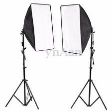 2x 500W Photo Video Studio E27 Lamp Softbox Light Stand Continuous Lighting Kit