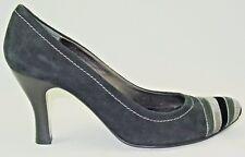 Apepazza 8 Black Grey Velvet Suede Retro Inspired Round Toe Heels Pin Up Swing